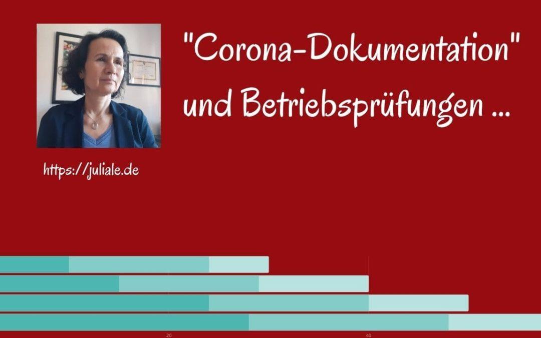 Corona-Dokumentation und Betriebsprüfungen