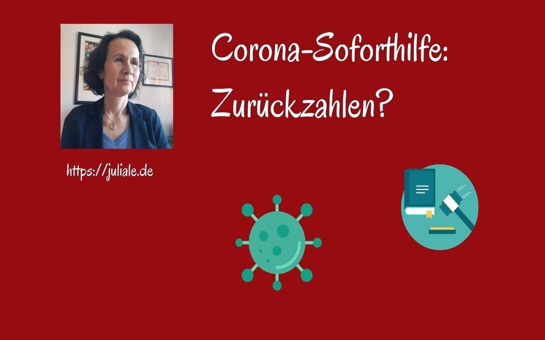 Rückzahlung Corona-Soforthilfe?